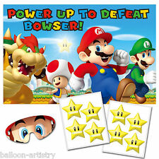 10 Piece Super Mario Bros & Friends Children's Stick The Star Party Game