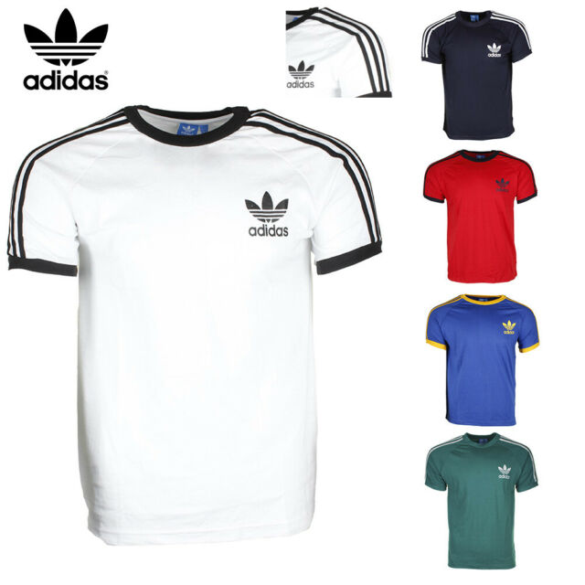 Adidas Men's Original Short Sleeve 3 Stripe Essential California T Shirt