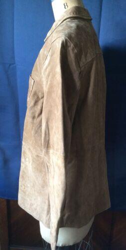 Som Suede M D Company Snap Tan Jacket Button Læder Denim co qYOxT6