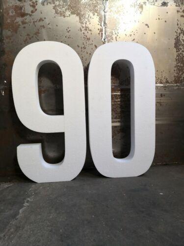 Zahl 99 cm Höhe 10 cm Tiefe Styropor Riesen Name Stand Event Tischdeko Nummer 3D