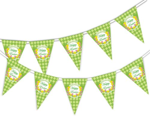 Happy Easter Bunting Banner 15 flags by PARTY DECOR Daffodil on Pattern