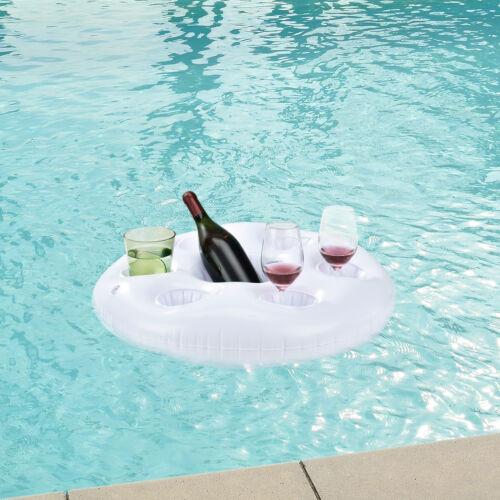 Poolbar aufblasbar Getränkehalter Kühler Pool Rettungsring Garten Bar
