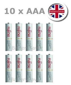 StraßEnpreis Suche Nach FlüGen 10 X Fujitsu White Aaa Nimh Lsd Rechargeable Batteries made In Japan