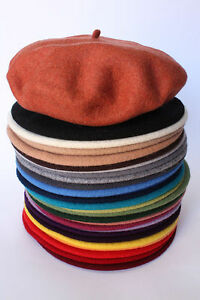677f5616 Image is loading 100-Wool-BERET-antenna-HandMade-in-POLAND-french-