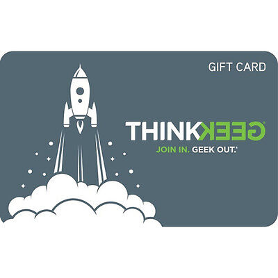 Gamestop Thinkgeek Gift Card - $25 $50 or $100 - Email delivery