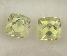 ONE Natural 9mm Square Cushion Lemon Citrine Natural Gemstone Gem Stone Faceted