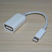 For iPad 4 iPad Mini OTG USB 2 Host to 8-Pin Camera Connection Kit Adapter Cable