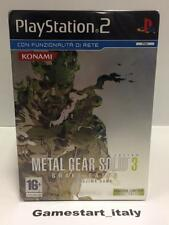 METAL GEAR SOLID 3 SNAKE EATER LIMITED METAL EDITION (PS2) NUOVO NEW VERS ITA