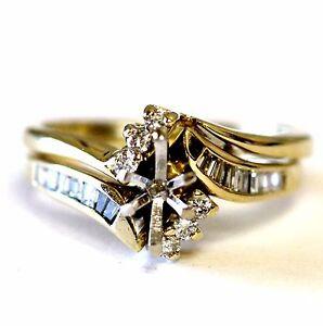 14k-yellow-gold-37ct-semi-mount-diamond-engagement-ring-wedding-band-set-4-9g