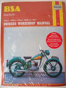 new bsa bantam haynes owners workshop manual repair spares parts rh ebay ie bsa bantam service manual bsa bantam service manual