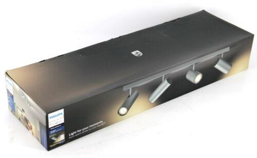 Philips Hue White Ambiance Buratto 4er Spot mit Dimmschalter silber