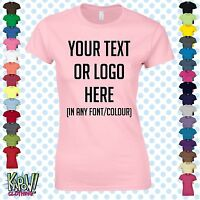 Custom Personalised Womens/Ladies Printed T-SHIRT Hen Party Gift-Your text/logo5