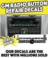 2007•2010 Chevy Silverado-gmc Sierra Radio Stereo Worn Button Decal Sticker Set