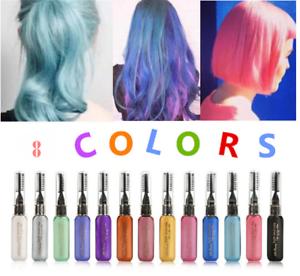 8 couleurs MAGNIFIQUE de cheveux teinture pour cheveux temporaire Non toxiques