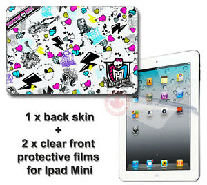 Monster-High-SKIN-STICKER-DECAL-COVER-amp-2-front-protected-films-1-for-iPad-Mini