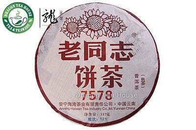 Haiwan Lao Tong Zhi 7578 Pu'er Thé Gâteau 2013 357g Mûrs Livraison Gratuite