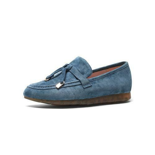 Details about  /Women Suede Round Toe Mules Casual Slip-On Bowknot Flats Loafer Oxfords Shoes L