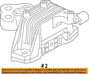 jeep chrysler oem 14 15 cherokee engine motor mount torque strut rh ebay com Chrysler 2.5 V6 Engine Diagram GM 3.5 V6 Engine Diagram