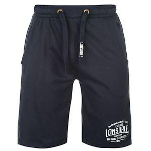Lonsdale-Lightweight-Sweat-Shorts-Mens-Navy-Sportswear-Short-Boxing-MMA