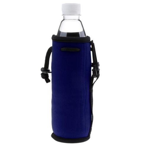 Water Bottle Cooler Sleeve Neoprene Insulated Bag Strap Holder Carrier Cover