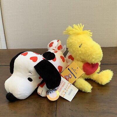 """Hallmark Peanuts Floppy Snoopy NEW Holiday Happiness Ornaments 10/"""" Plush NWT"""