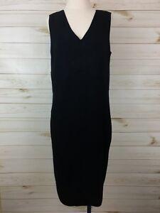NEW-Lane-Bryant-Women-039-s-Black-Sleeveless-V-Neck-Sweater-Dress-Size-14-16