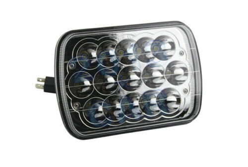 "7x6/"" LED HID Cree Light Bulb Crystal Clear Sealed Beam Headlamp Headlight 45W CA"
