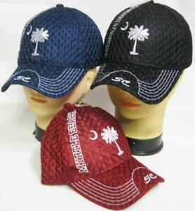 b6d751e36df Myrtle Beach South Carolina SC On Bill Mesh Black Embroidered Cap ...
