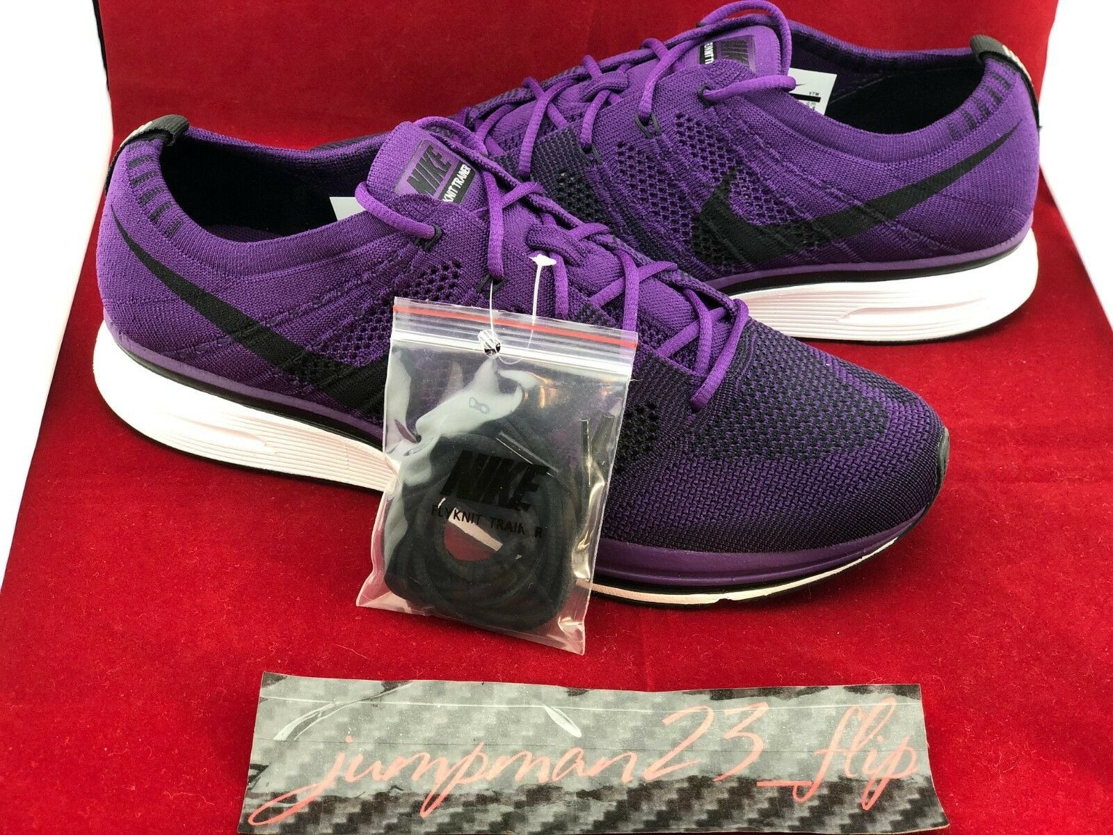 Brand New Nike Flyknit Trainer    Night Purple  2017 Size 9.5 DS 0d24d1