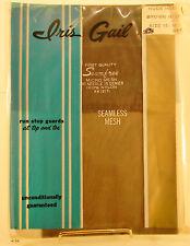 Vintage Iris Gail Seamless Nylon Garter Stocking Sheer Heel Hosiery 10 1/2 Brown