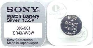 Sony SR616SW Mercury Silver Oxide Battery - 5 Piece