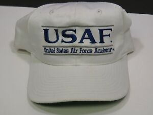 Image is loading Vintage-USAF-White-Air-Force-Academy-Snapback-Hat- 4a4724d72e2b