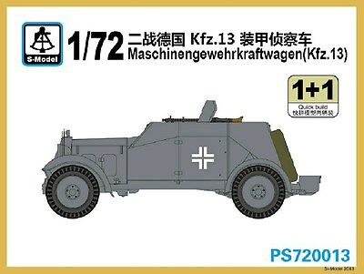 S-model 1/72 PS720013 Maschinengewehrkraftwagen Kfz.13 (1+1)