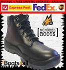 Mongrel Work Boots Steel Toe Black Lace Ankle Support FREE Express Post 260010