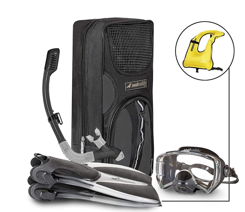 SealBuddy Maui Mask Snorkel Mesh Gear Bag Combo S M  4-7.5