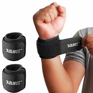 2-Handbandage-Sportbandage-Gelenk-Stuetze-Handgelenk-Bandage-mit-Klettverschluss