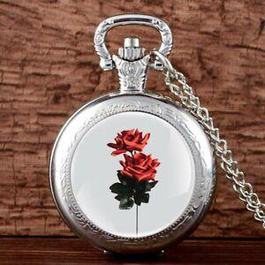 Rose-Steampunk-Vintage-Pocket-Watch-Chain-Pendant-Antique-Quartz-Movement-Women