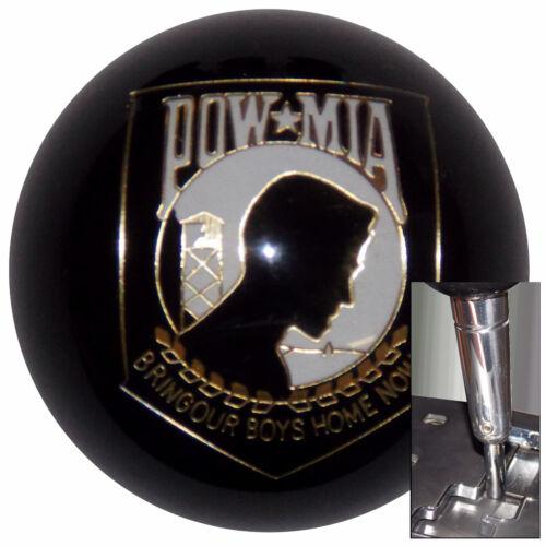 Black POW//MIA shift knob w// chrome adapter for automatic shifters See desc.