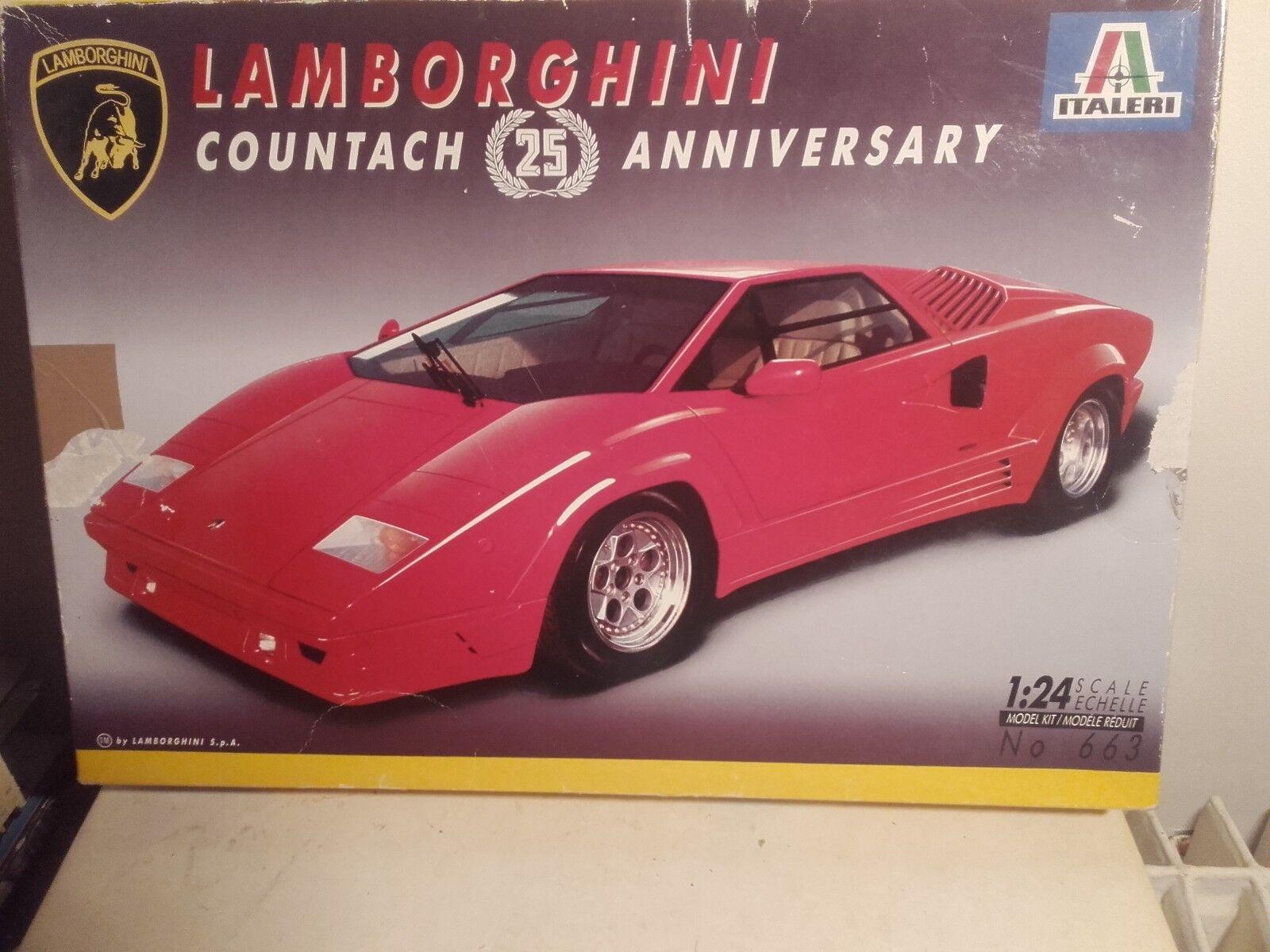Lamborghini countach 25 anniversary 1 14   italeri