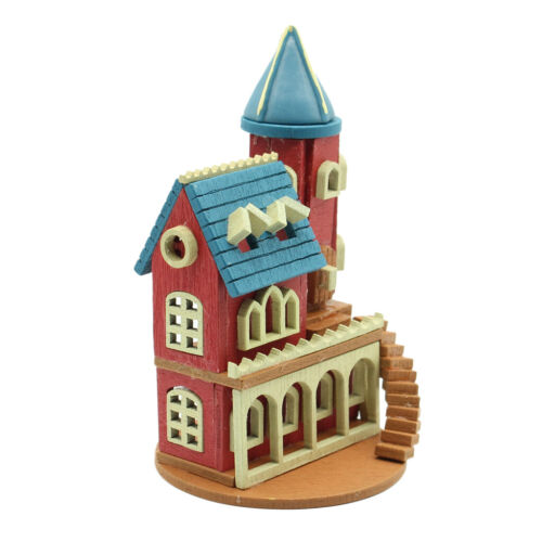 1:12 Scale DIY Wooden Dollhouse Handcraft Miniature Project Toy Red Castle