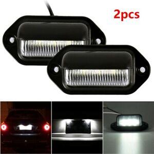 2pcs-Eclairage-Plaque-Immatriculation-Feux-6-LED-pour-Peugeot-206-307-308-407