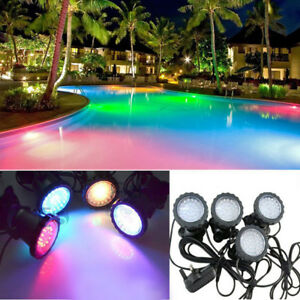Multi Colour 4pcs 36 Led Underwater Pond Garden Spot