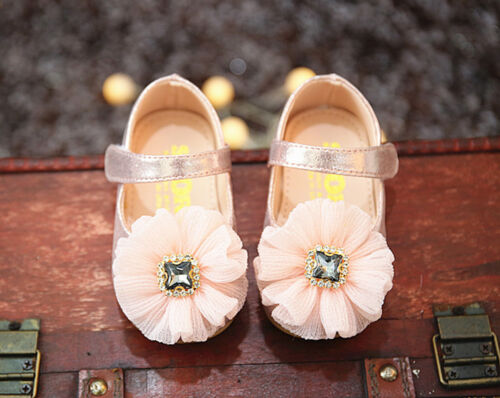 Baby Girls Sparkly Jewel Christening Shoes Party Shoes 3 6 9 12 15 18 Months