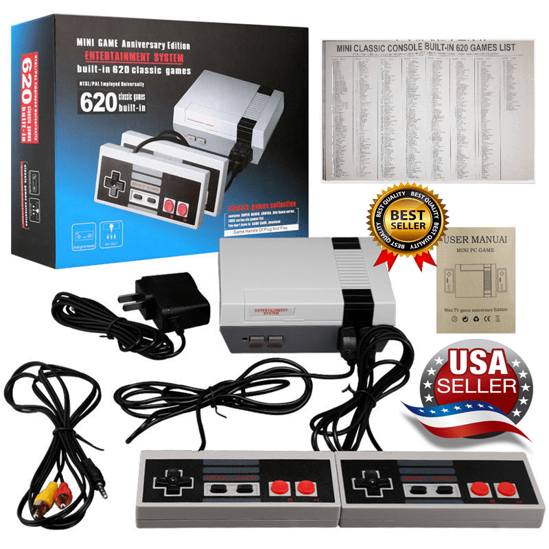 Mini Retro Game Nintendo NES Console 620 Built-In Classic Ga