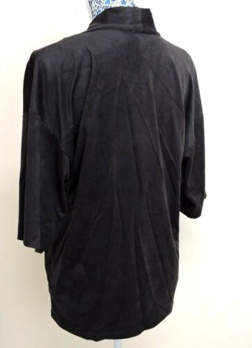 QVC Womens Faux Suede Kimono Duster Pocket Cardigan Open Front Blazer Jacket Top