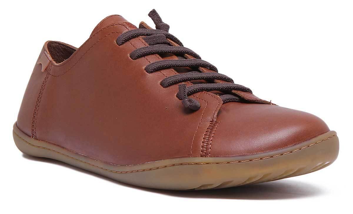 Camper Peu Cami para hombres Cuero Camel Mate Zapatos Planos Casual tamaño de Reino Unido 6 - 12