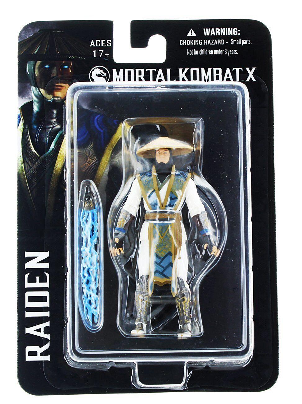 Mortal kombat x raiden 10.2cm action - figur eterno gott fulmini mezco