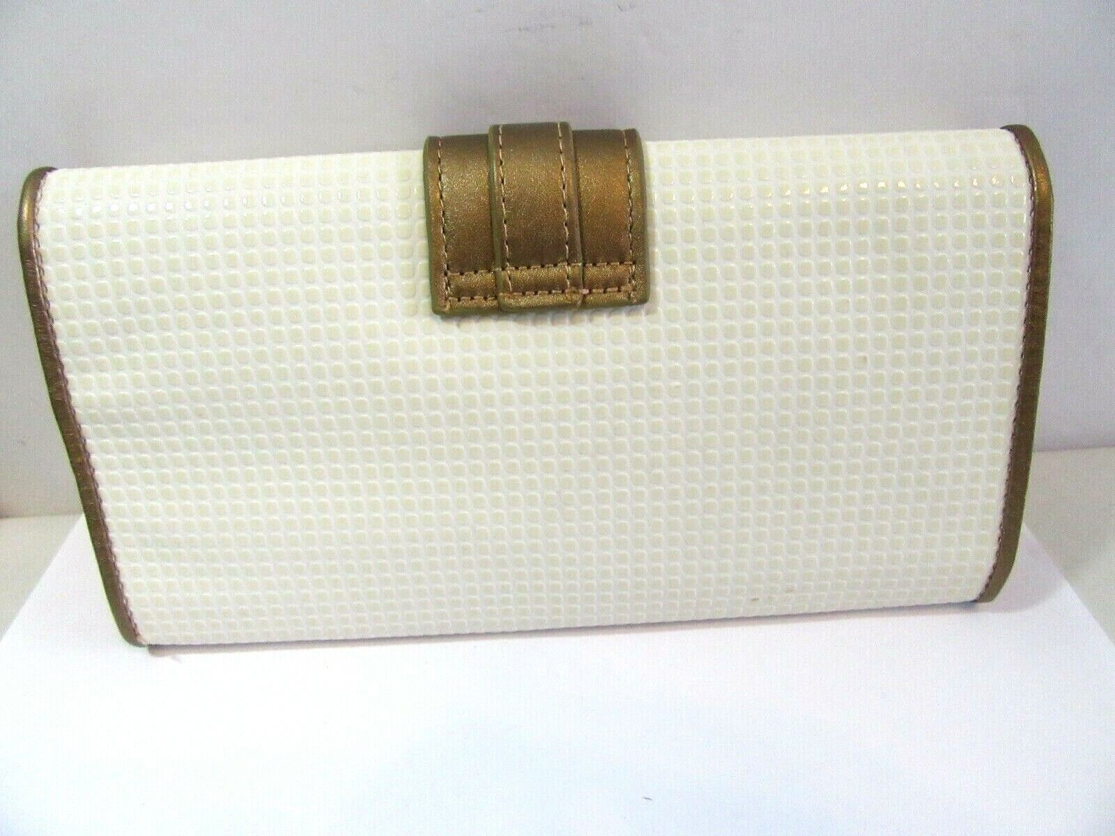 TUSCAN DESIGNS CLUTCH CARRY ALL PURSE BAG WHITE A… - image 2