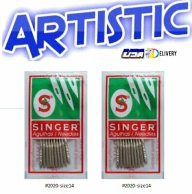 20 New SINGER Sewing Machine Needles Style 2020 ~ Size 14 Featherweight 221