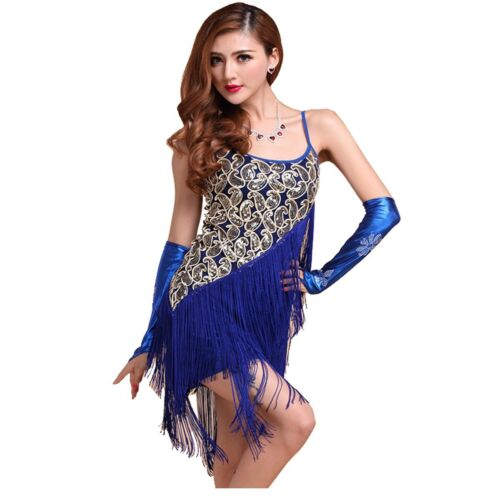 1920/'s Girl Sequin Tassels Hem Paisley Flapper Dress SIZE4 6 8 10 12 14 16